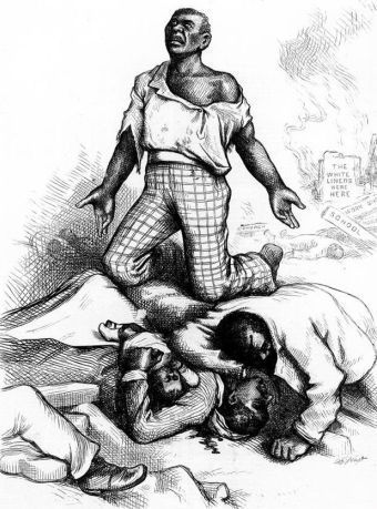 """Is This a Republican Form of Government?"" from Harper's Weekly, September 2, 1876 Library of Congress"