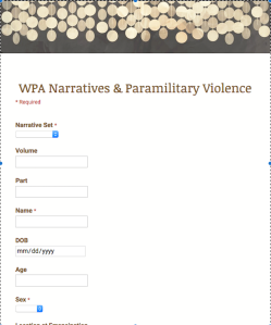 I created a database for WPA interviews in which formerly enslaved people recalled stories of Ku Klux Klan attacks.