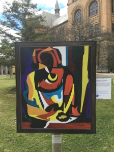 "Solomon Irein Wangboje's ""Mother and Child"" which was on campus as part of the DIA's 2015 Inside