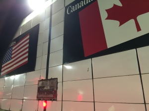 The Border between the U.S. and Canada in the tunnel underneath the Detroit River. Danielle McGuire and I were returning from the ASA, which was in Toronto.